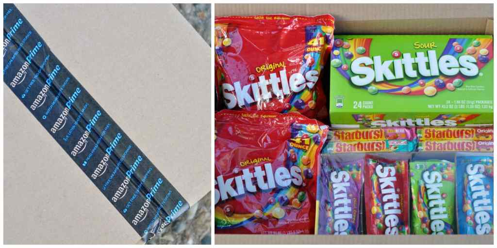 Skittles and Starburst from Amazon