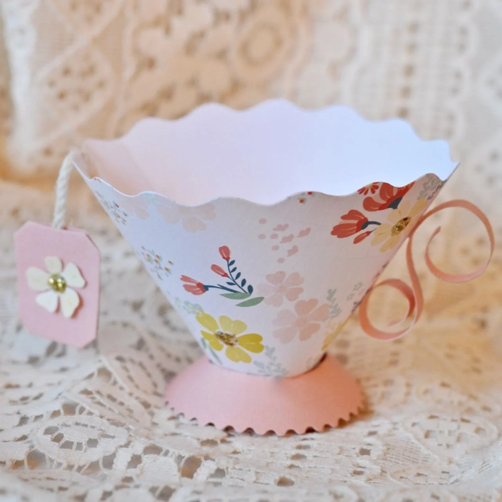 Paper tea cup tutorial