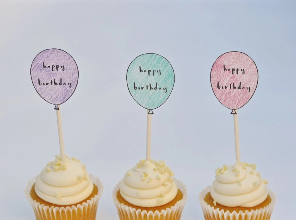 Free Printable Birthday Cupcake Toppers