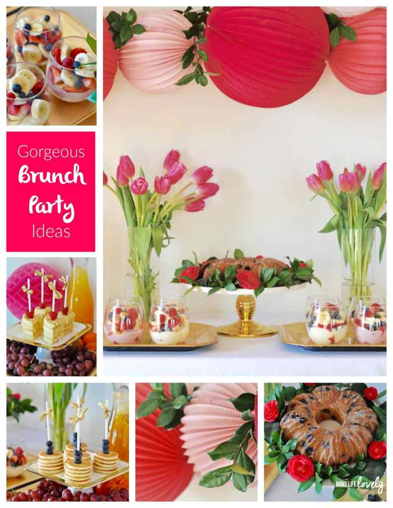Gorgeous Brunch Party Ideas, perfect for a girls brunch, party, or baby shower!