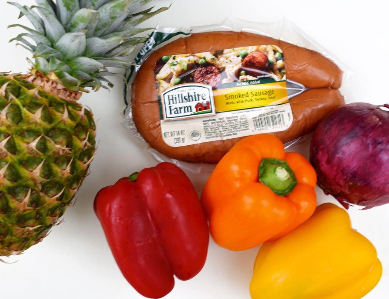 Sausage kabobs recipe ingredients