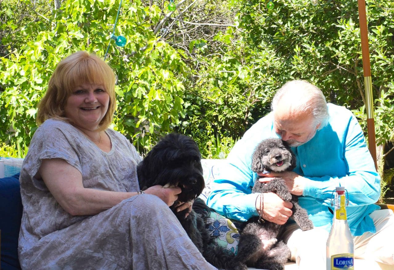 At home with Lesley Nicol and her husband