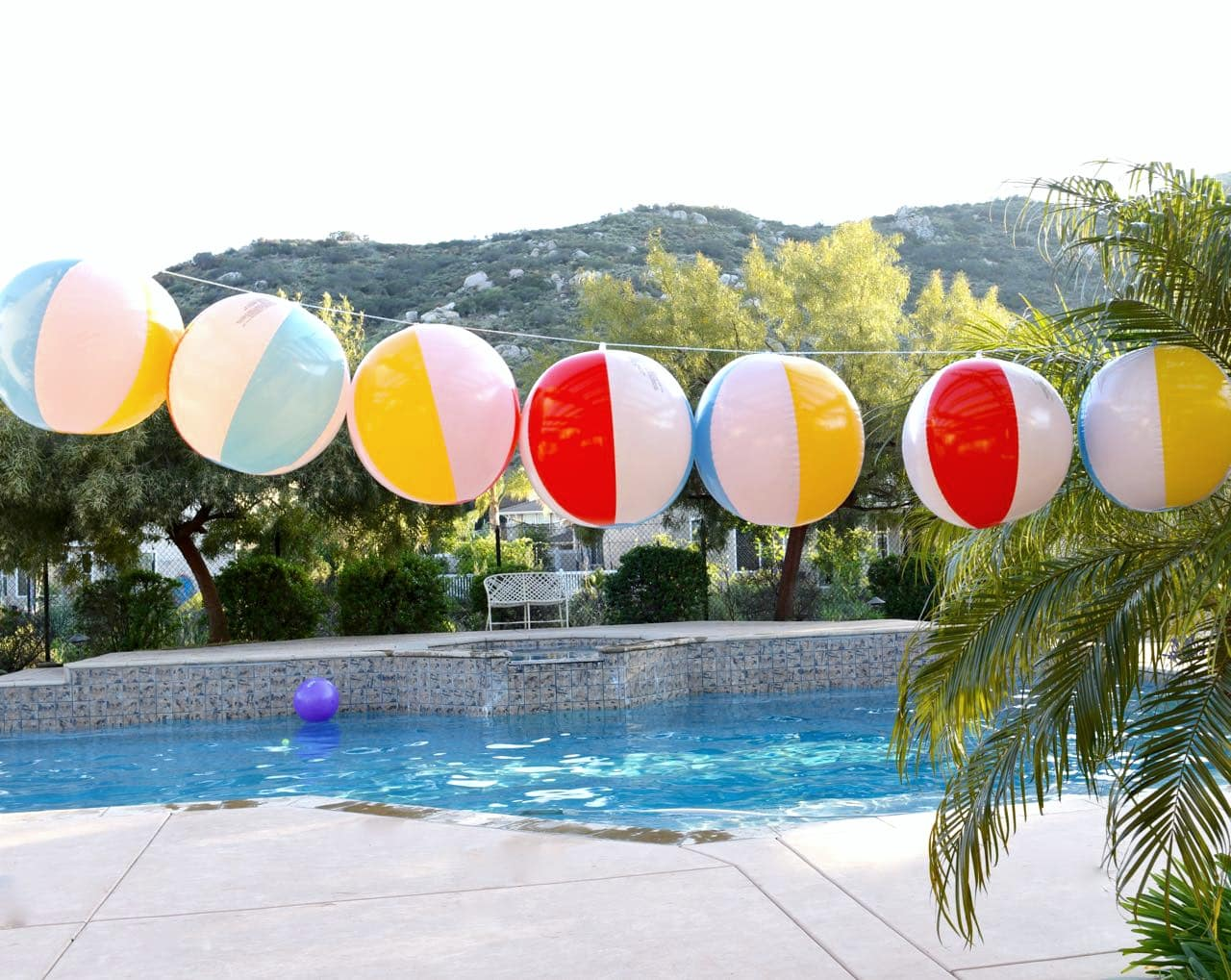 Beach Ball Garland DIY - Make Life Lovely