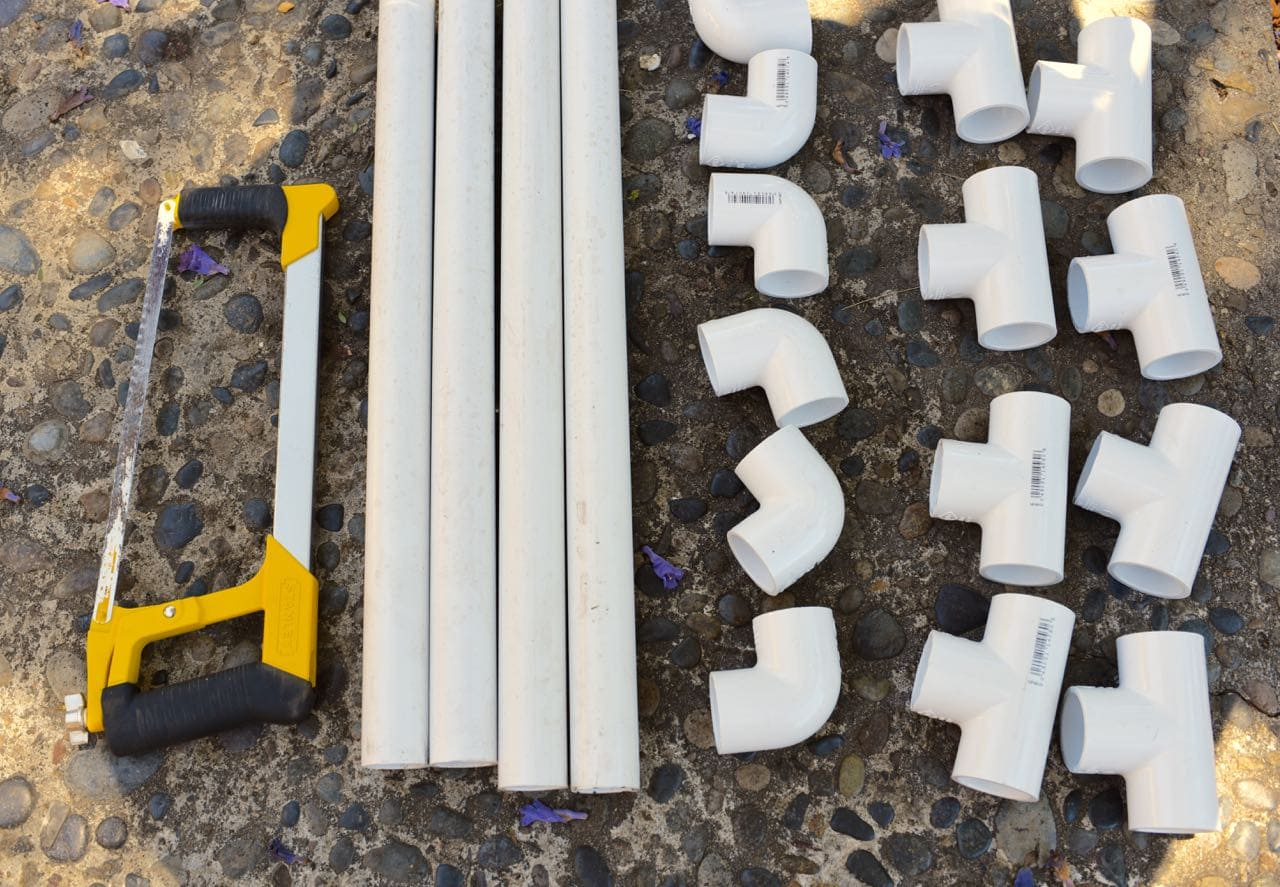 PVC Pipe Towel Holder DIY