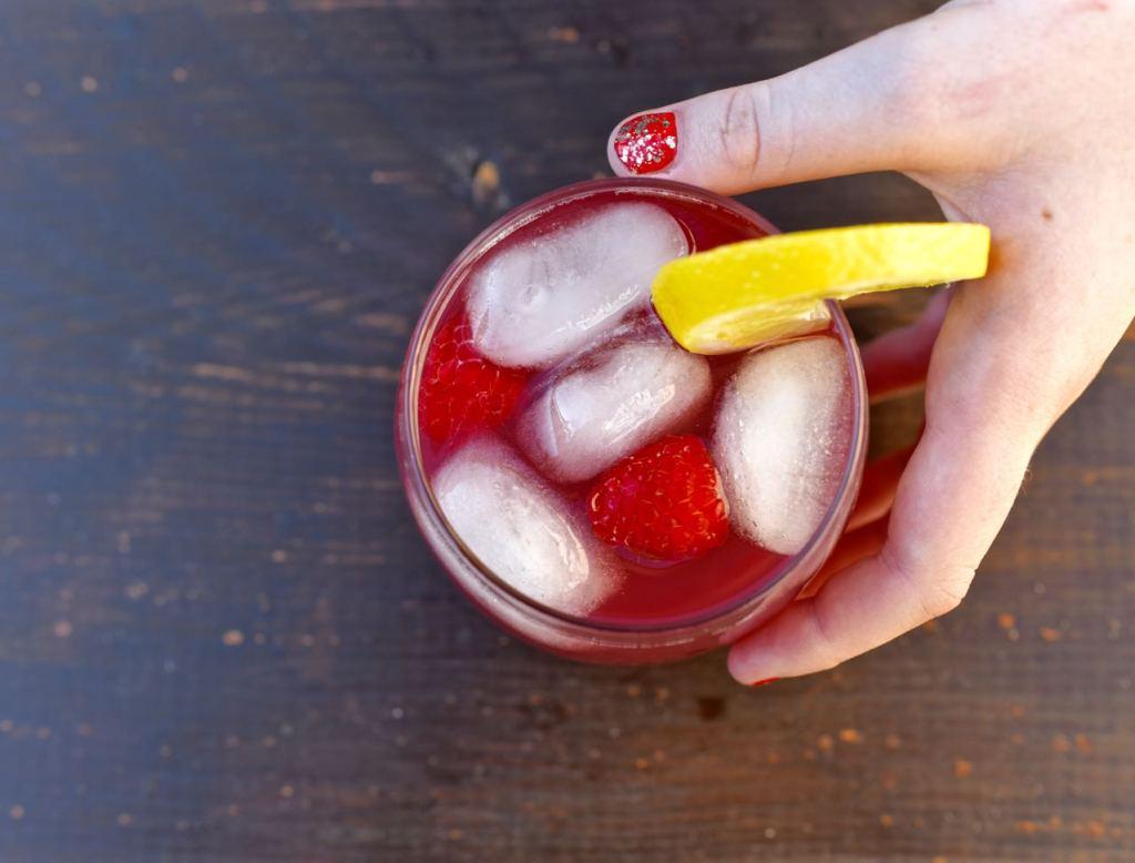 Cranberry Raspberry Lemon Mocktail
