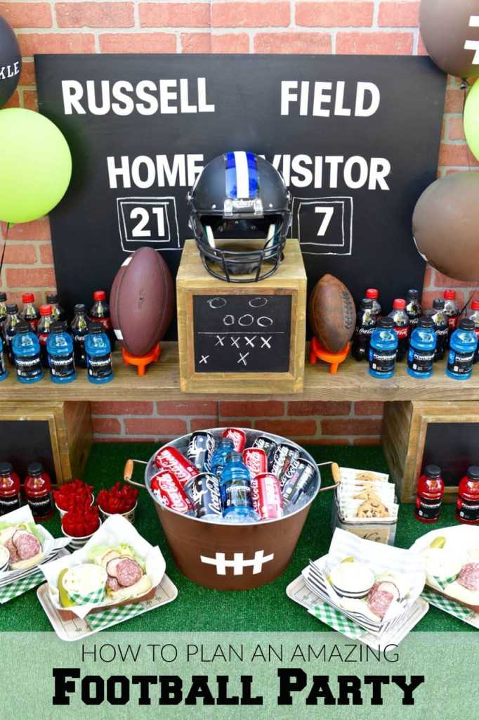 How to plan an amazing Football Party Table