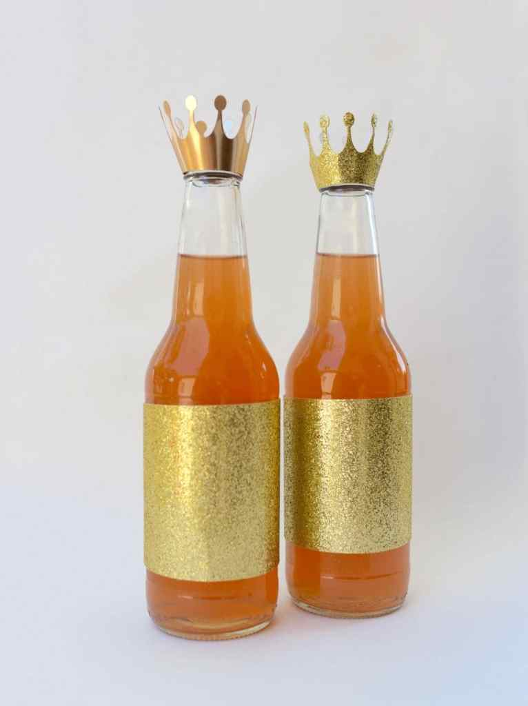 Princess crown bottle topper with Sizzix