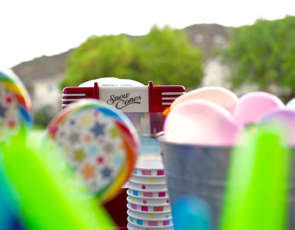 Snowcone maker at a summer party