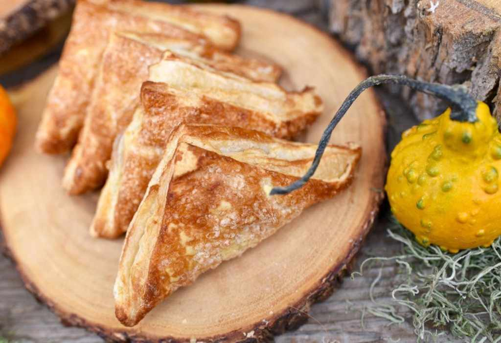 Apple turnovers party food at a haunted forest Halloween party