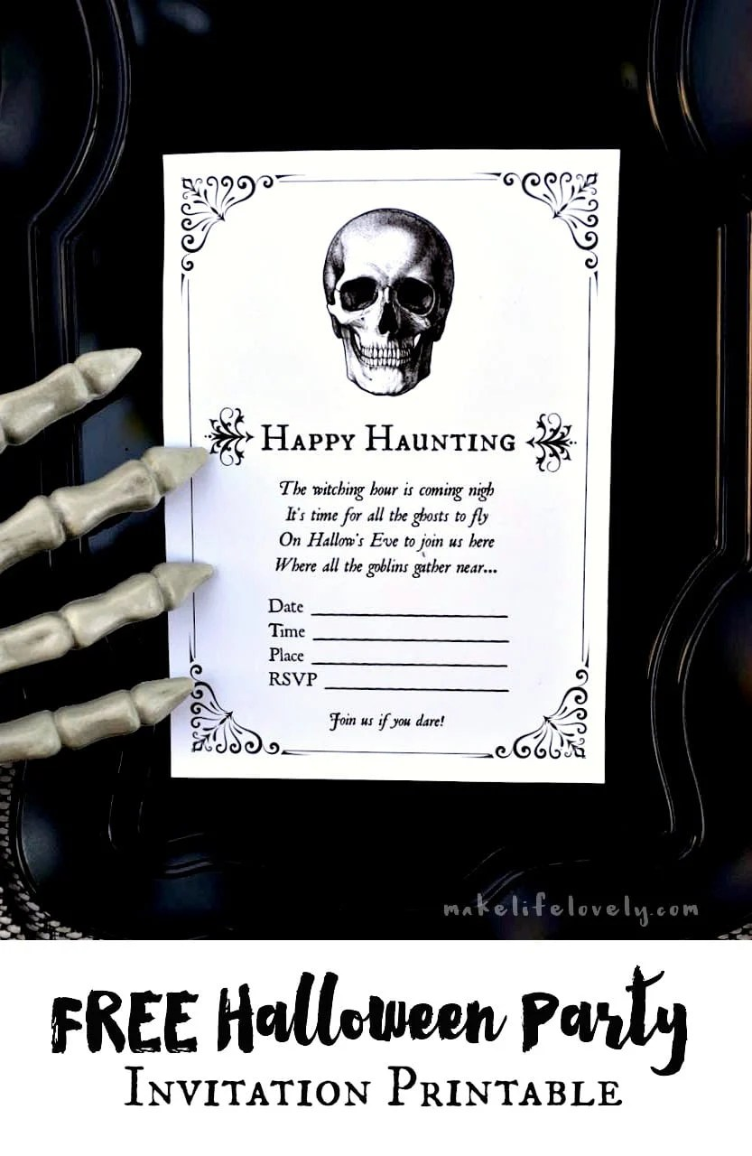It is an image of Delicate Free Halloween Invitation Templates Printable