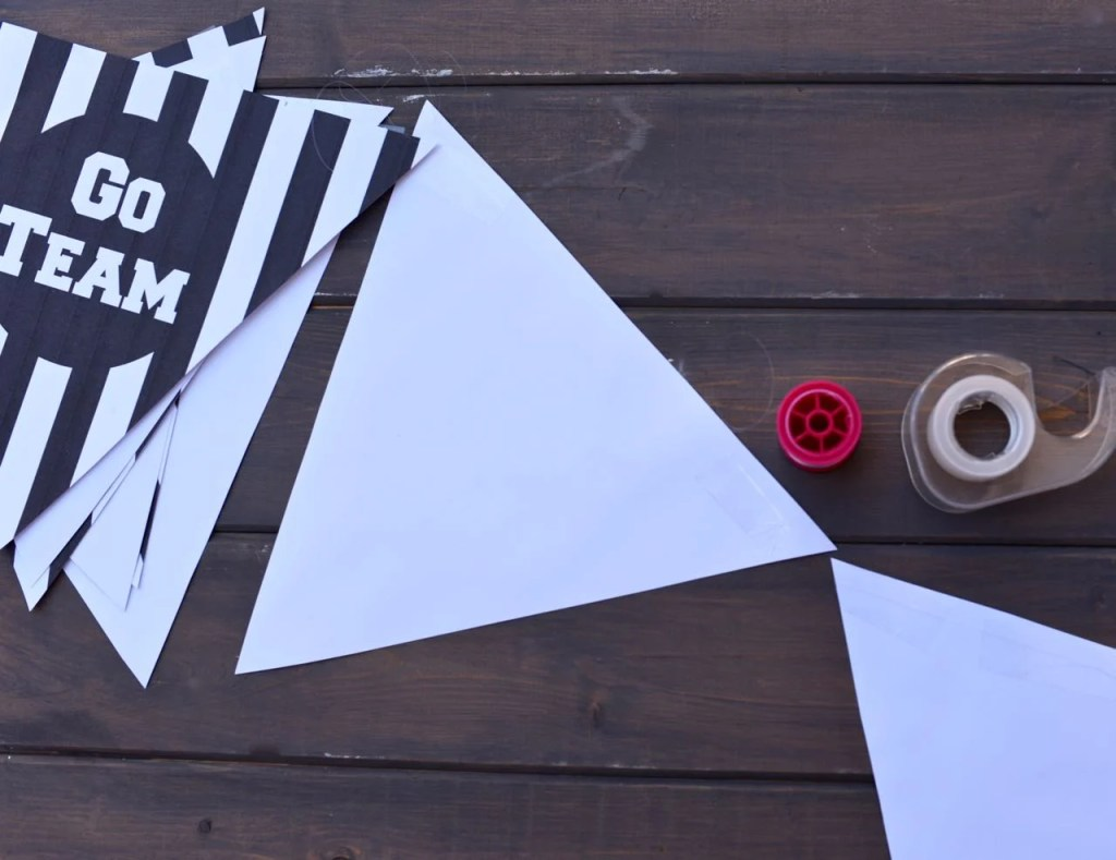 DIY Football bunting printable