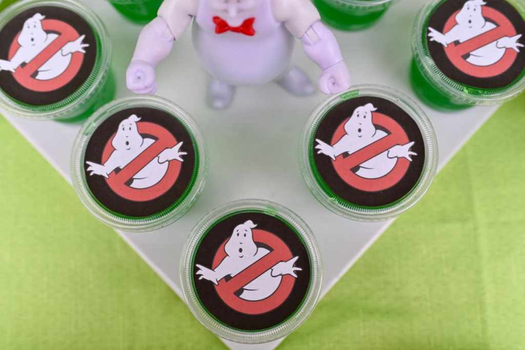 Ghostbusters party food- lime Jell-0