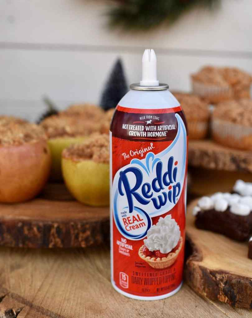Reddi wip at a rustic holiday party