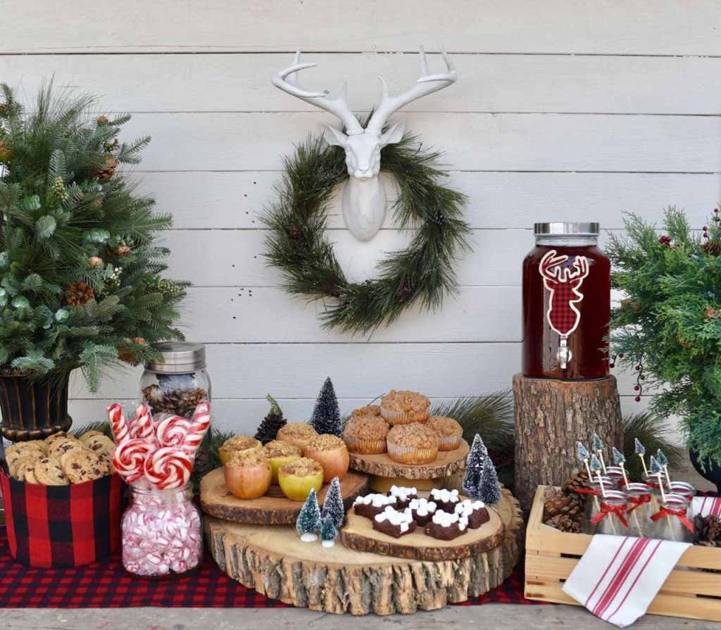 Rustic Christmas party food