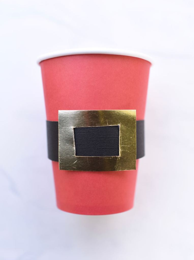 Santa belt cups tutorial