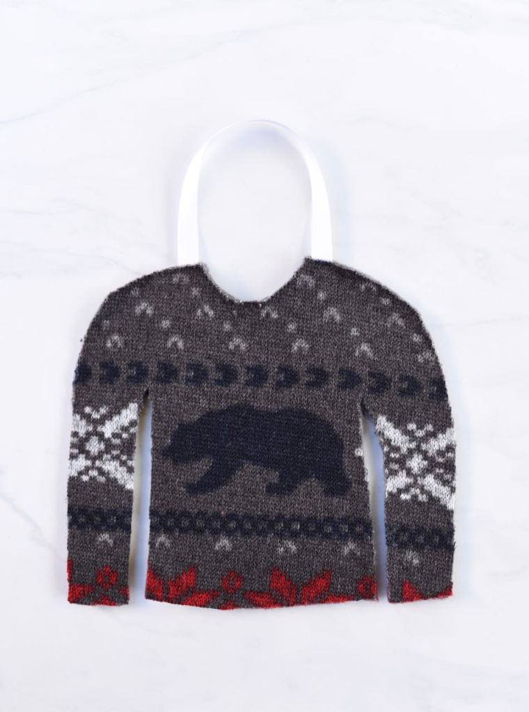 Ugly sweater favor bag