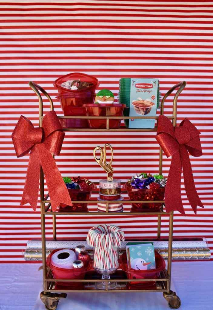 Wrapping Paper Station at a Cookie Exchange Party