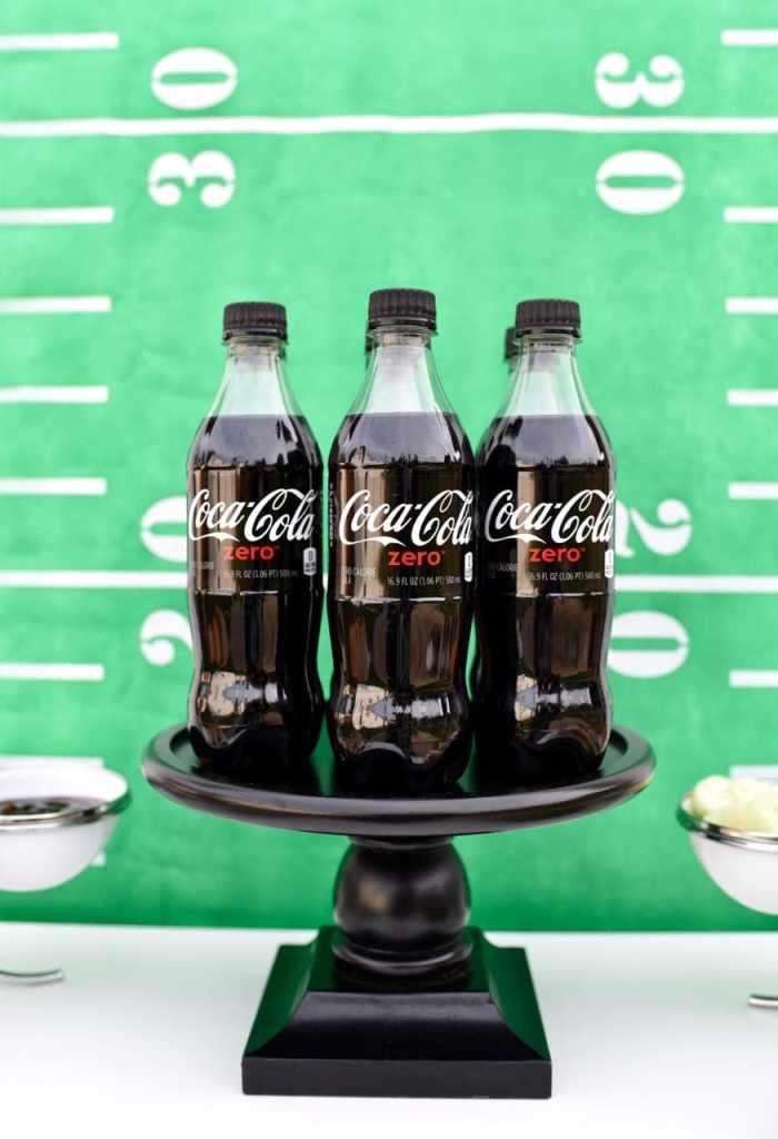 Coke Zero drinks at football party