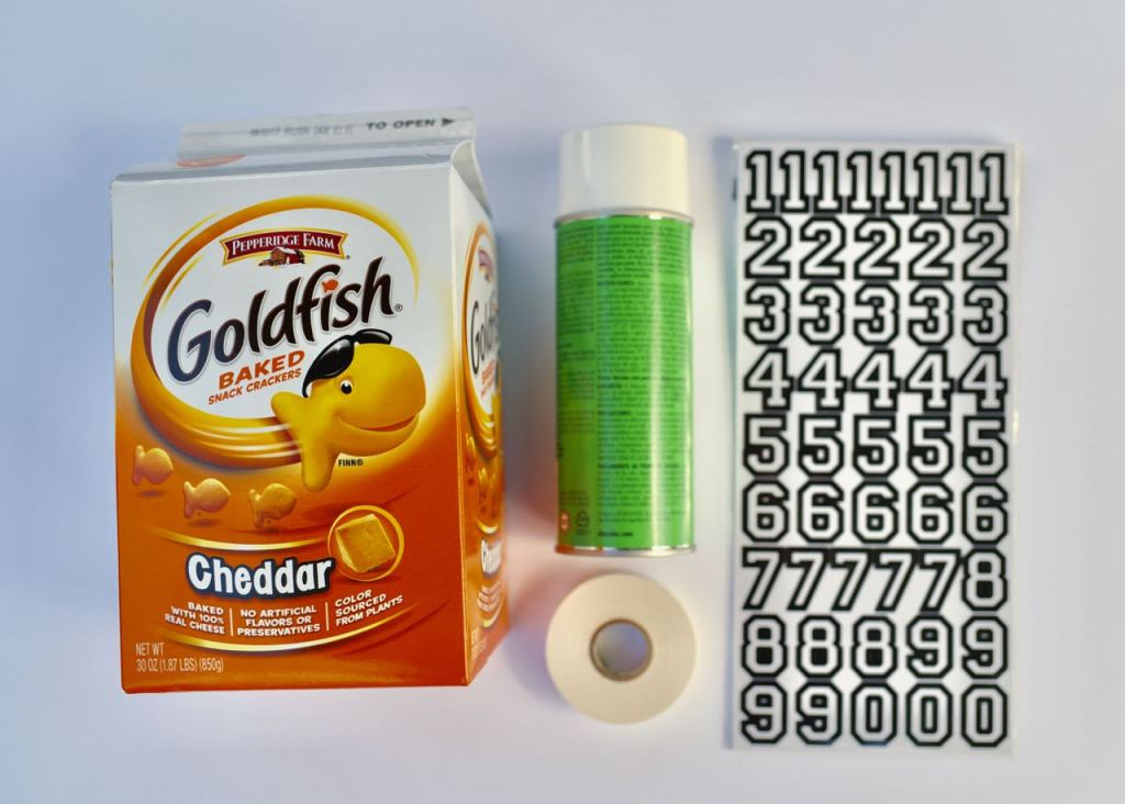 DIY Football toss supplies