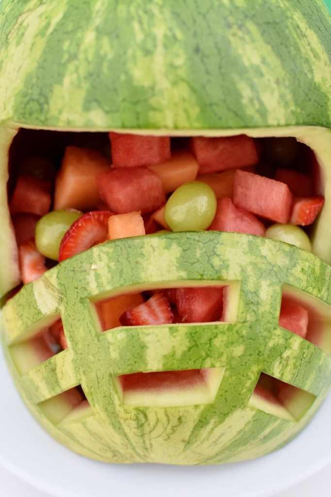 Football helmet watermelon