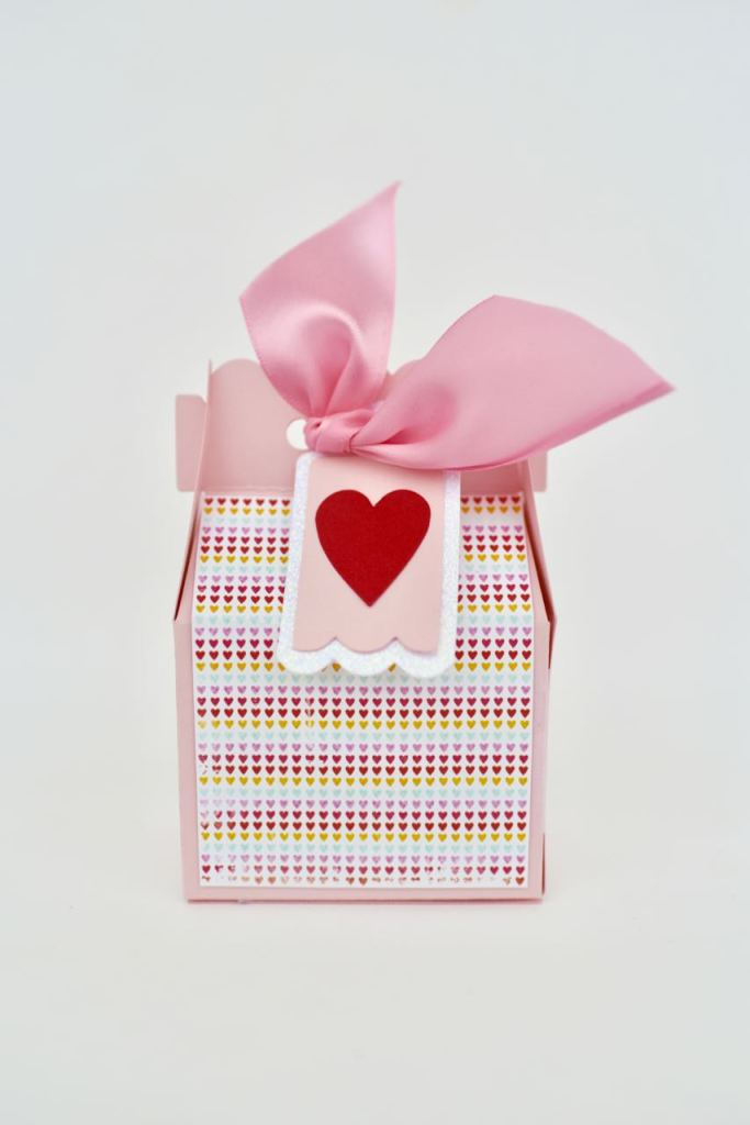 Valentine candy box craft. So cute and easy to make with your Sizzix Big Shot!