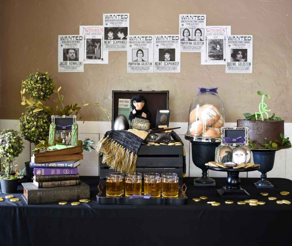 Fantastic Beasts and Where to Find Them party with DIY niffler, DIY bowtruckle, and more!