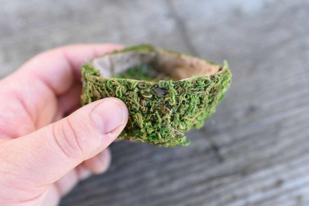 Mini bird nest tutorial for Easter and spring