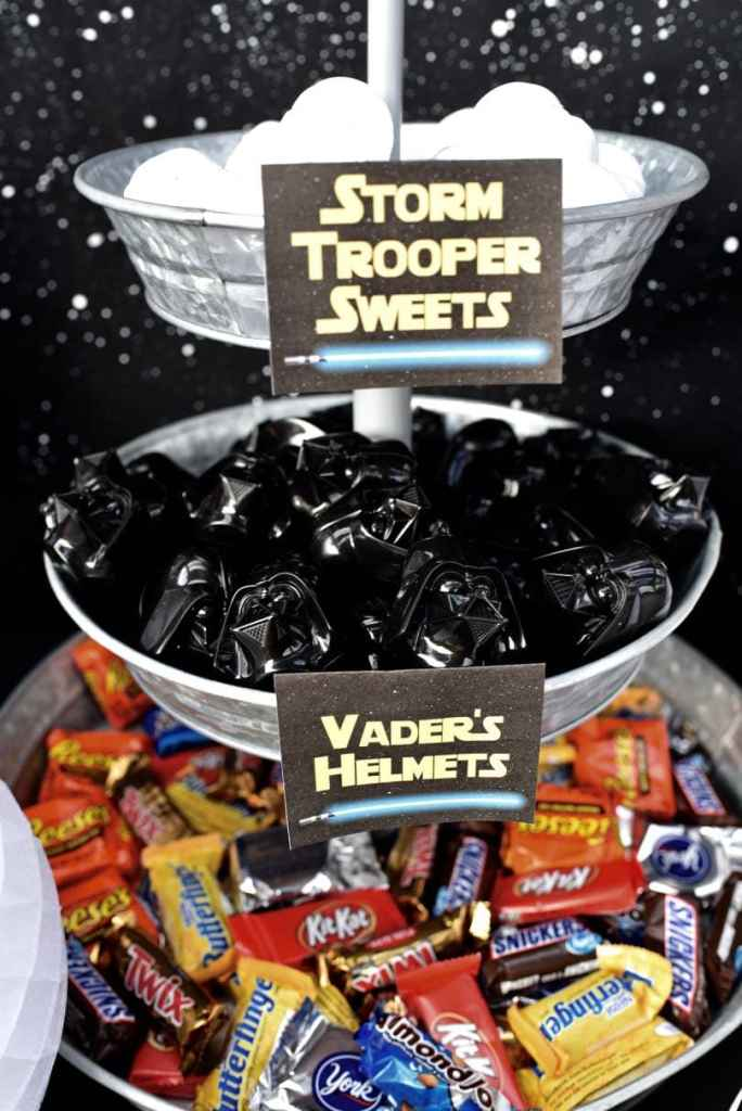 Star Wars movie night party
