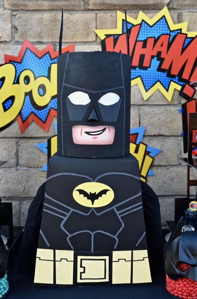 LEGO Batman cardboard costume