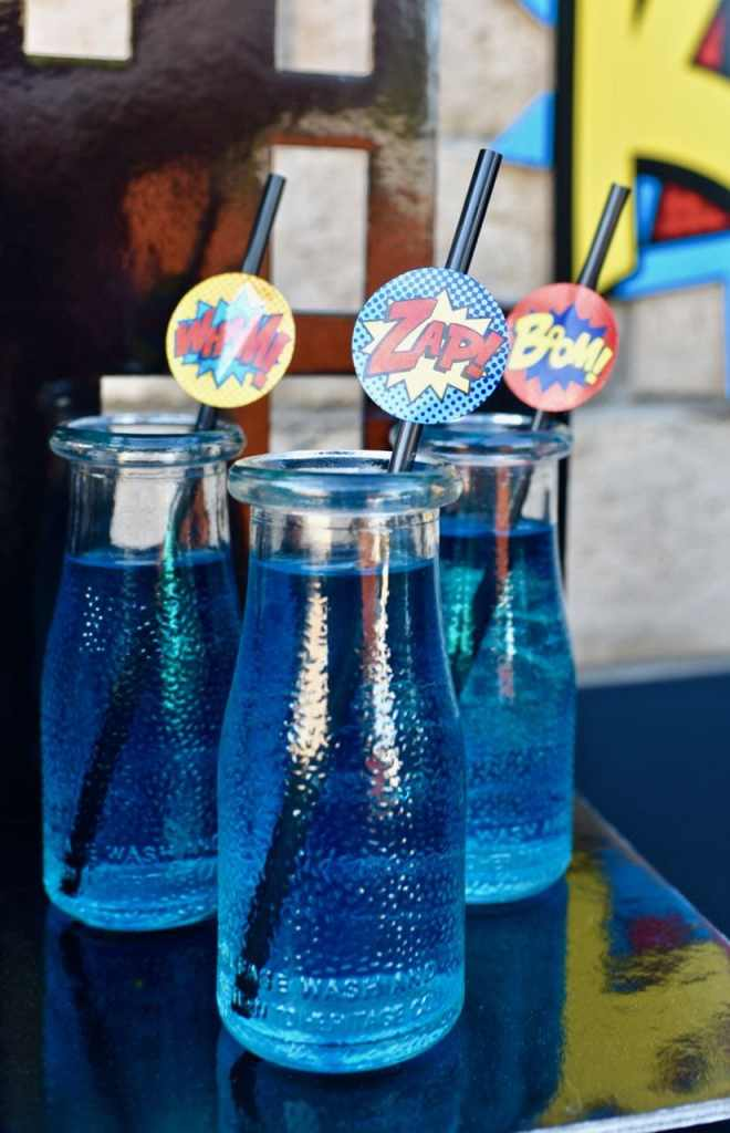 LEGO Batman party drinks