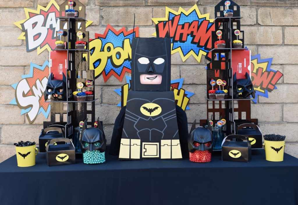 LEGO Batman party with lots of fun details!