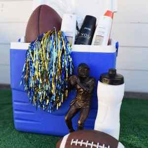 DIY Football Gift Basket for a Teenage Boy