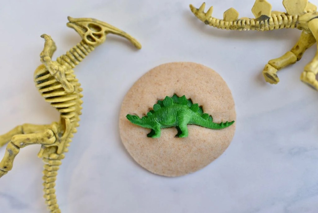 DIY dinosaur fossils for dinosaur birthday party