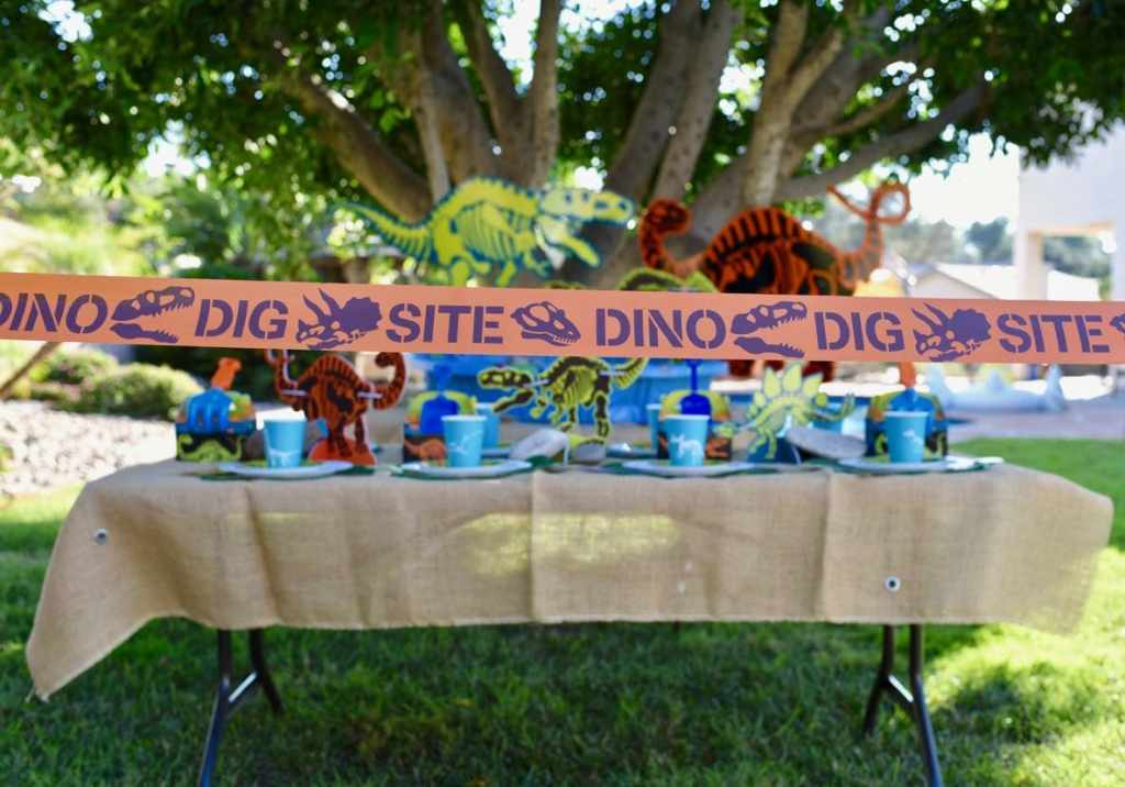Dinosaur party and dino dig