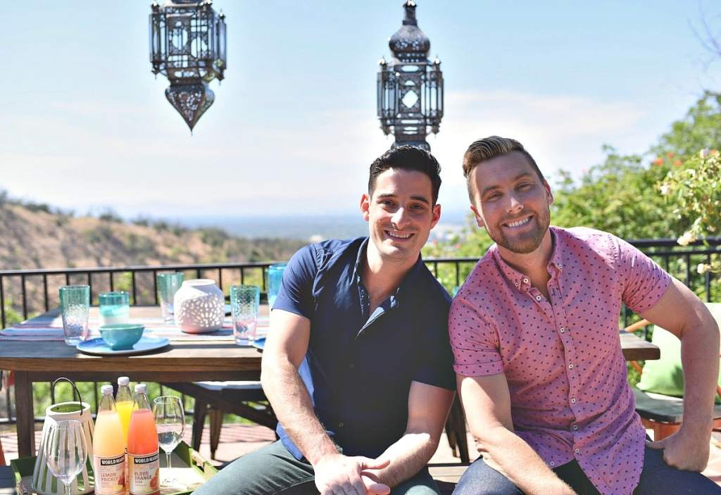 Lance Bass and Michael Turchin in Los Angeles home