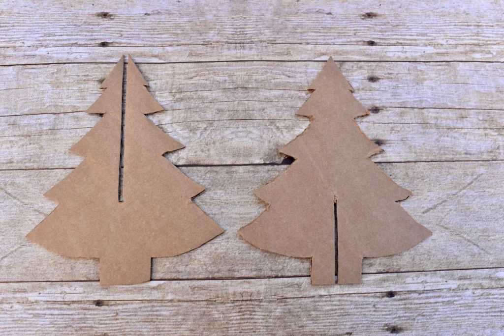 Cardboard Christmas tree craft