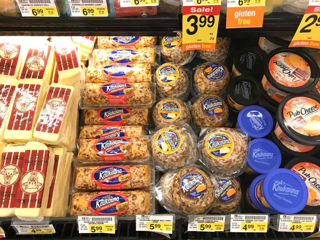 Kaukauna cheese balls at Albertsons