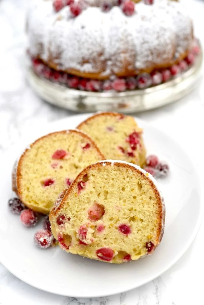 Orange cranberry bundt cake holiday dessert