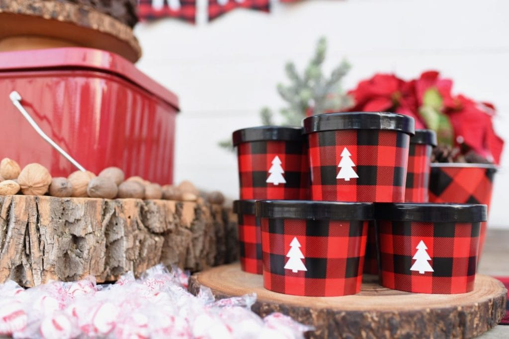 Buffalo plaid party favors with Cricut Explore