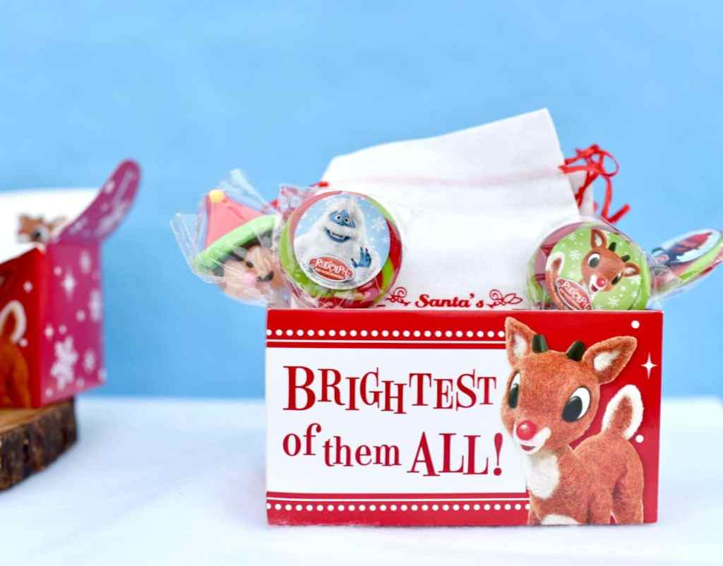Rudolph the Red-Nosed Reindeer party candy bag party favors