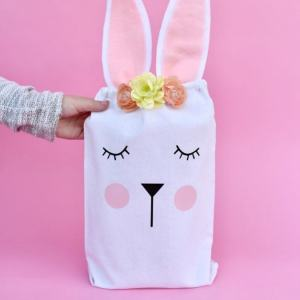 Easter Bunny Bag for Easter Egg Hunts, Party Favors, and more!