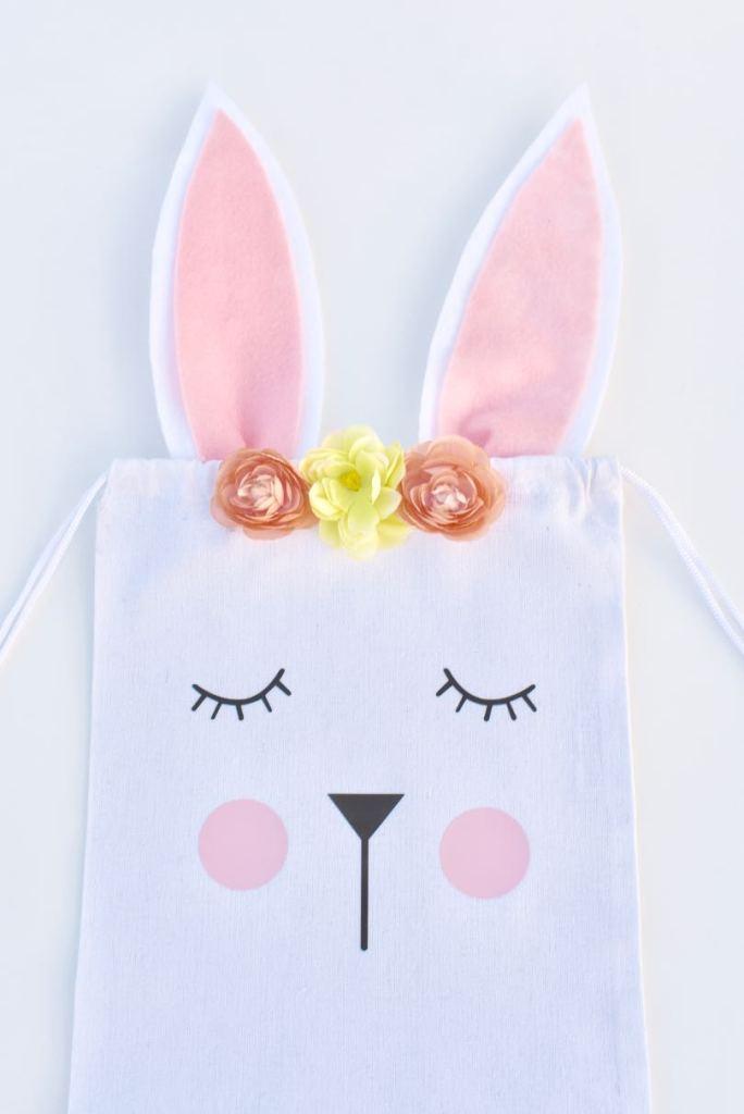 No sew Easter bunny bag tutorial