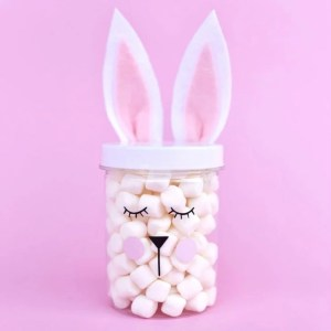Easter Bunny Jars in Just a Few Minutes