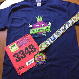 Tee and medal from the OldWethersfield10k RunForTheOnion TeamHMF runHMF hmfeventshellip