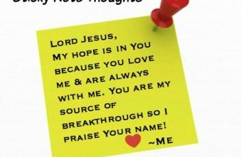 breakthrough - sticky note