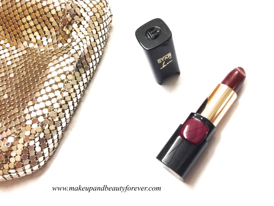 L'Oreal Color Riche Pure Reds Star Collection Pure Garnet Lipstick Review Swatch LOTD FOTD Sonam Kapoor