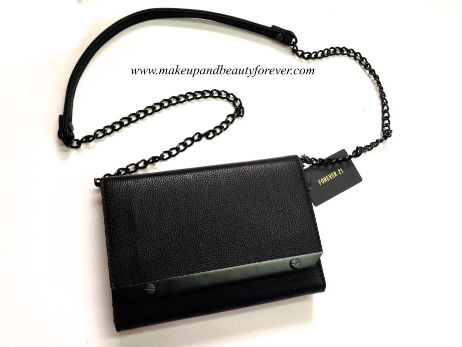 Forever 21 black trendy sling bag