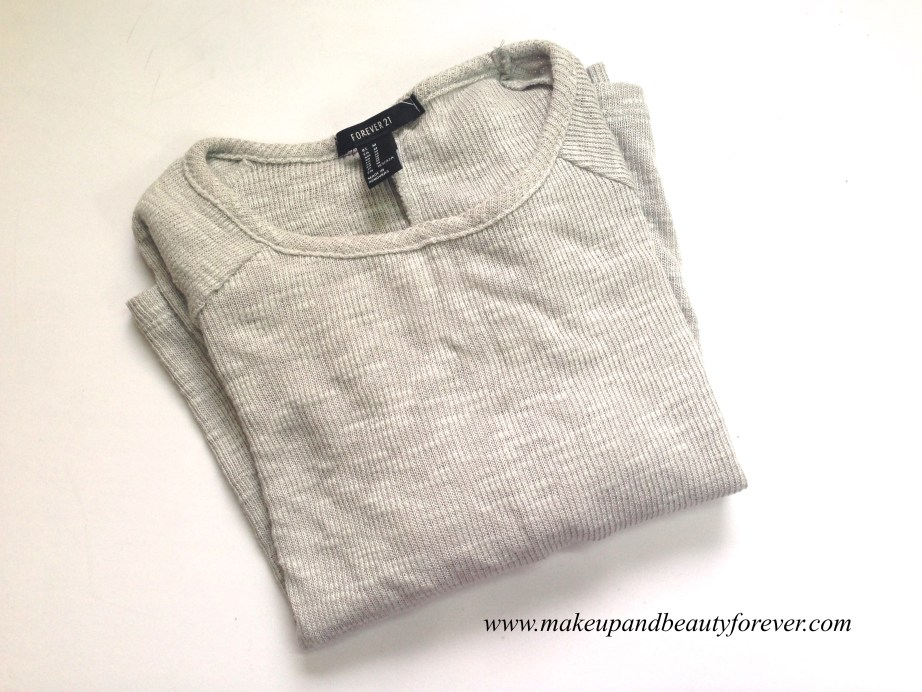 Forever 21 grey belly top