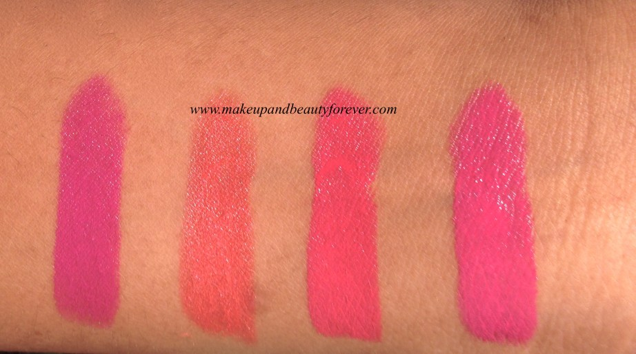 All New Lakme Enrich Satin Lipstick Review, Shades, Swatches, Price and Details