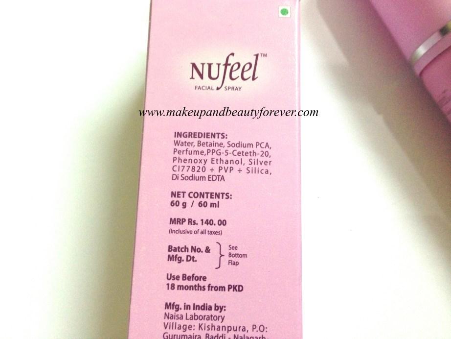 Nufeel Facial Spray for Women Review 4
